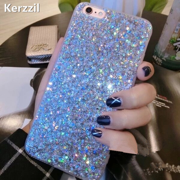Fashion Bling Shining Powder Sequins Case For IPhone 7 6 6S Plus Phone Soft Silicone Glitter