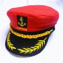 Sombrero militar negro con rayas rojas y blancas para niños gorra para niño o niña soldado capitán sombrero de marinero ejército Vintage policía huesos Gorras para niños