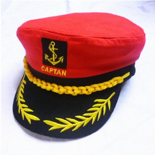 Preto branco vermelho listrado crianças chapéu militar cap boy girl chapéu  de capitão marinheiro soldado da 6c2eae34bf3