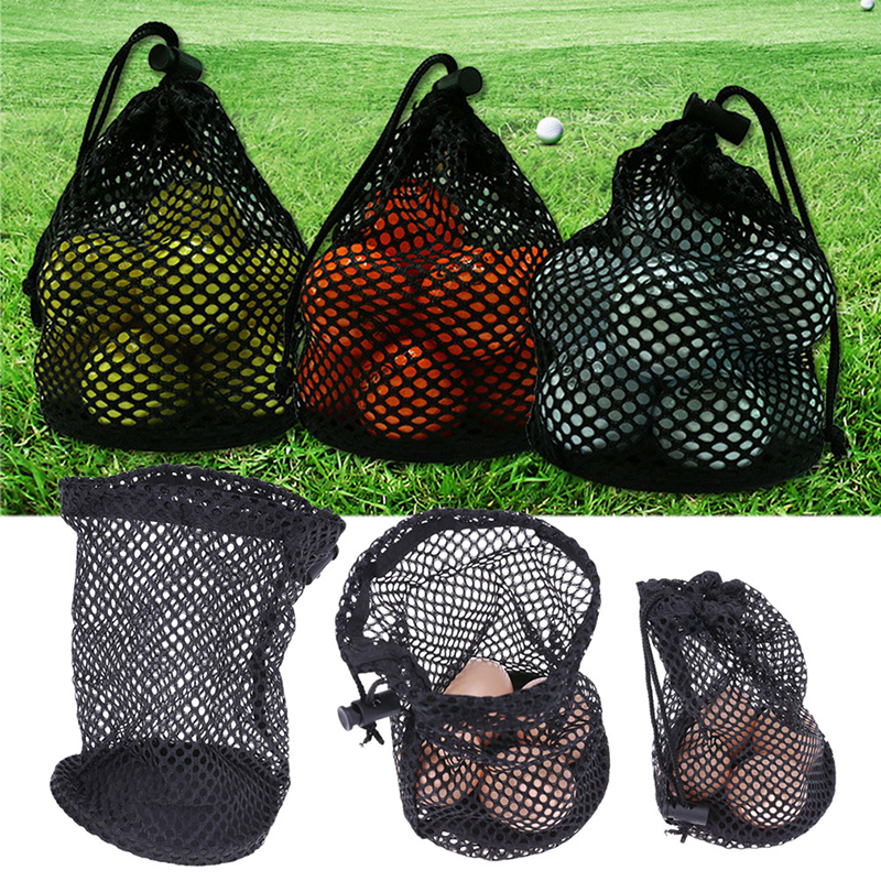 Outdoor Sports Golf Net Bag Nylon Mesh Practical Accessories Storage Bag 12-16 Grain Package Without Ball