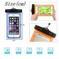 2 pçs/lote transparente à prova de água underwater bolsa dry bag case capa para iphone 7 tela sensível ao toque do telefone móvel de telefone celular venda quente