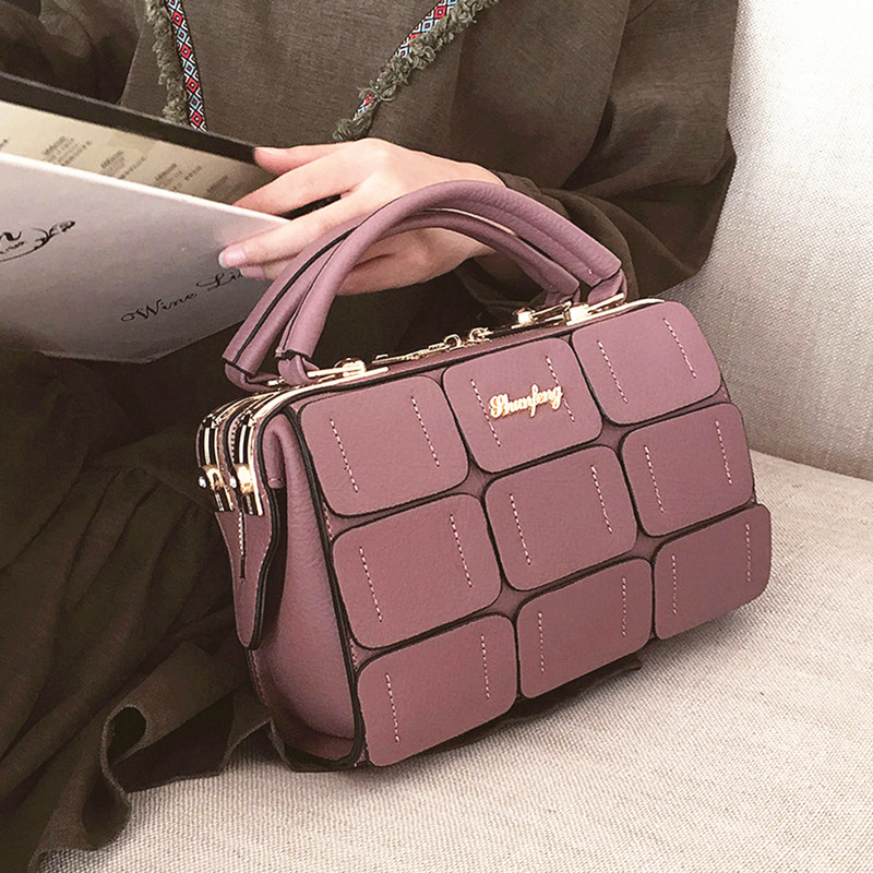 2017 New Patchwork Small Square Package European and American Fashion Handbags Leisure Package Handbag Shoulder Bag