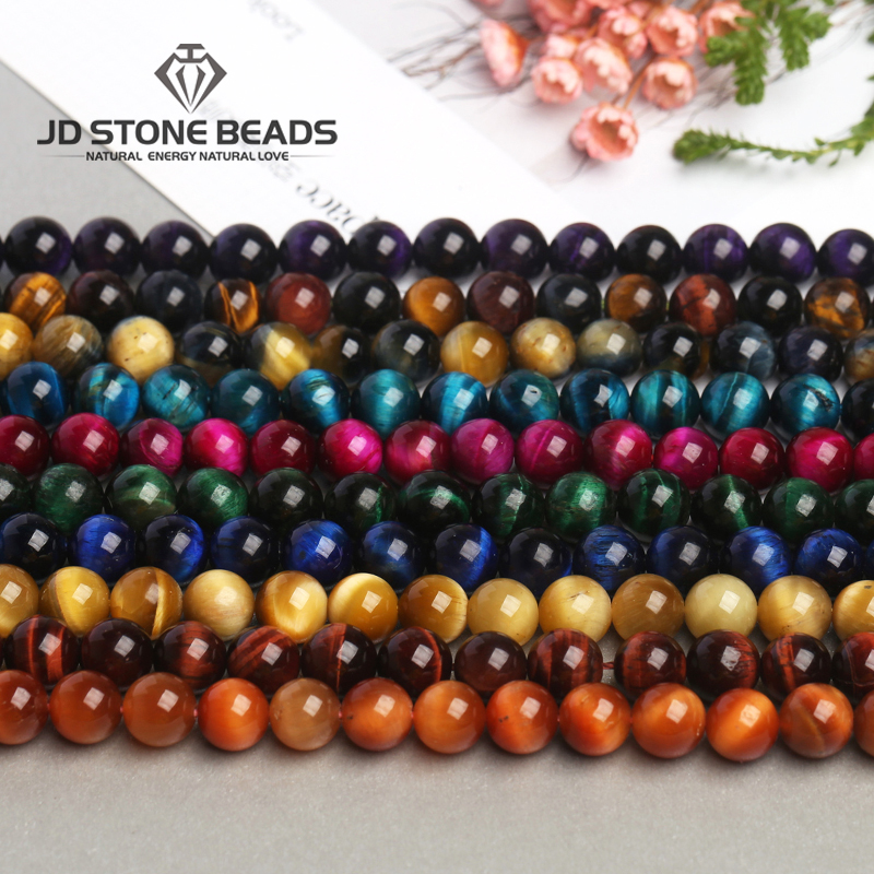 High Quality Tiger Eye Beads Fancy Gemstone Beads 4-14mm Blue Fuchsia Color For Man Jewelry Making Hot Sale and Free Shipping High Quality Tiger Eye Beads Fancy Gemstone Beads 4-14mm Blue Fuchsia Color For Man Jewelry Making Hot Sale and Free Shipping