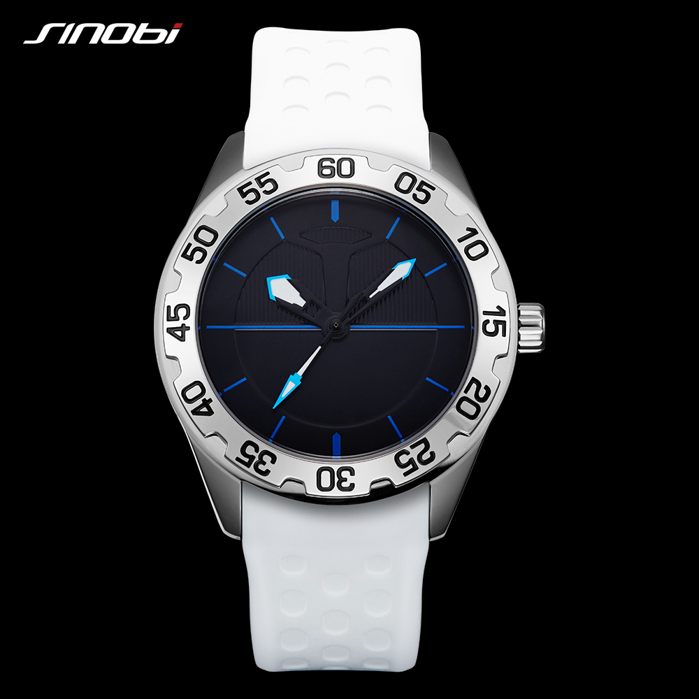 SINOBI Men Military Sport Watch Fashion Hand Quartz Watch Men Soft Silicone Watches Observatory Football Relogio Masculino observatory
