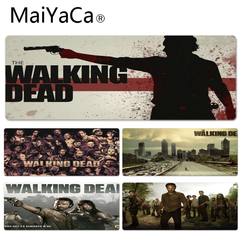 MaiYaCa Walking Dead Large Mouse pad PC Computer mat Size for 30x90x0.2cm Gaming Mousepads
