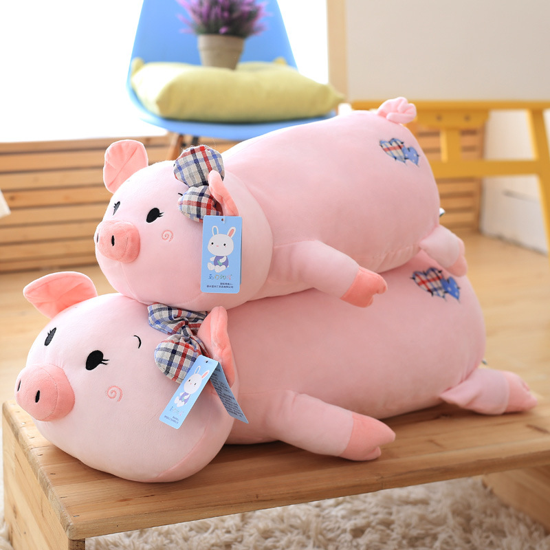 2017 New Large Pig Lovely Colorful Plush Toys Birthday Huge Stuffed Doll Pink Gift Stuffing Toy C54 60cm dolphin lovely chicken colorful plush toys birthday chick stuffed doll blue or pink whale gift stuffing toy c38