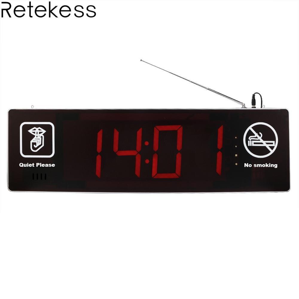 Retekess TD123 двухсторонняя Дисплей Беспроводной вызова хост приемник с Голосовая отчетность для прибор для вызова медсестры больница клиника