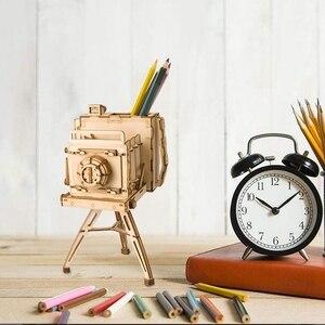 Image 3 - 3D пазл колесо обозрения Robotime, деревянная модель, строительные наборы, популярные развивающие игрушки, подарки для детей и взрослых TG