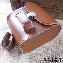 Taiwan Kaile Real Cowhide cattle leather  3.2 mm thick  vintage bicycle saddle rear bag