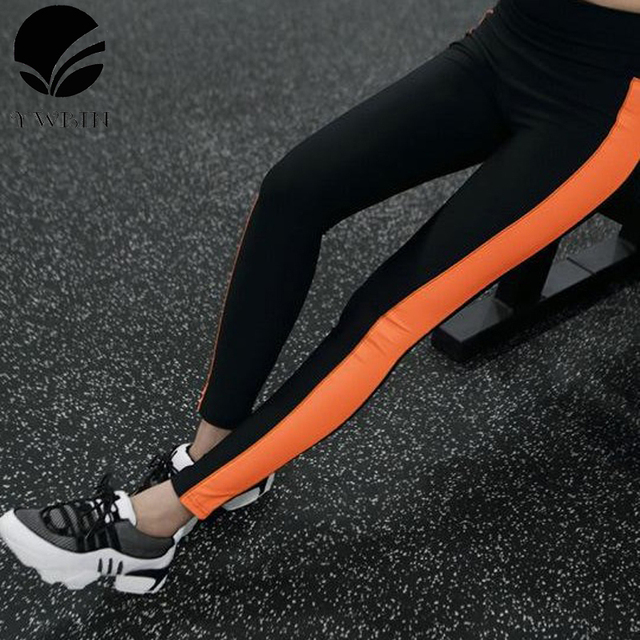 genuine limited quantity hot-selling US $14.99 |YWBIN brand women sport Yoga leggings High Waist Panelled  Spliced yoga pants Pencil Cotton Gym Fitness Running workout Leggings-in  Yoga ...