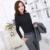 Novidade Preto Estilos Uniformes Terninhos Feminino Tops E Calças Escritório Ladies Trabalho Desgaste Conjuntos de Roupas Ternos Com Calças Blusas