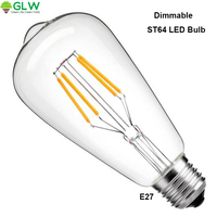LED Bulb 4W Antique LED Bulb Led Filament Lighting Bulb Filament Light Bulb 40W Equivalent Light