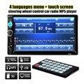 2016 Двухместный 2 DIN Автомобильный Аудио Bluetooth 7-дюймовый HD Радио тире Сенсорный Экран Стерео MP3 MP5 Player 7010B USB Управление Рулевого Колеса управления