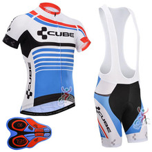 Cycling Jersey CUBE Pro Team Short sleeve Set Shirts Clothes Wear maillot Ropa Ciclismo Sportwear Bike Clothes cyclisme I6