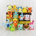 15pcs/lot dargonite Ampharos Lapras Torchic plush toy doll squirtle chikorita bulbasaur Mudkip stuffed 10-18cm