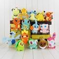 15pcs/lot dargonite Ampharos Lapras Torchic plush toy doll squirtle chikorita bulbasaur Mudkip stuffed 10-18cm