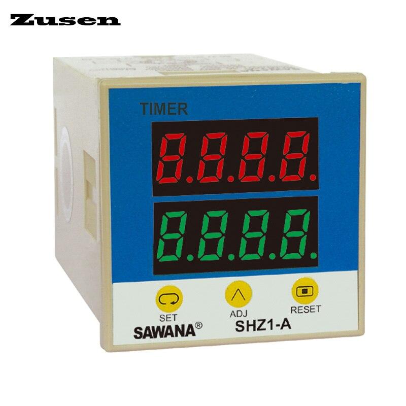 Zusen SHZ1-A(ST8A) intelligent dual digital display time relay DC12V/24V/36V/AC110V/220V/380V ac110v 220v 240v intelligent digital rf