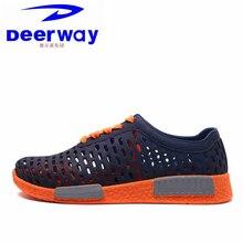 Deerway мужские кроссовки летние спортивные Святого Валентина обувь пляжные сандалии для отдыха дышащая мальчиков студентов бег обувь с отверстиями