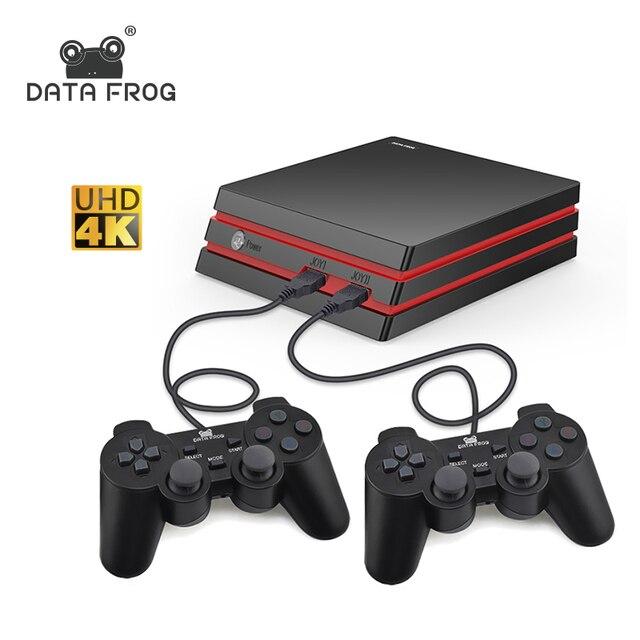 Данных лягушка Ретро игровой консоли Поддержка HDMI ТВ Out встроенный 600 классические игры для двух игроков для игры MAME