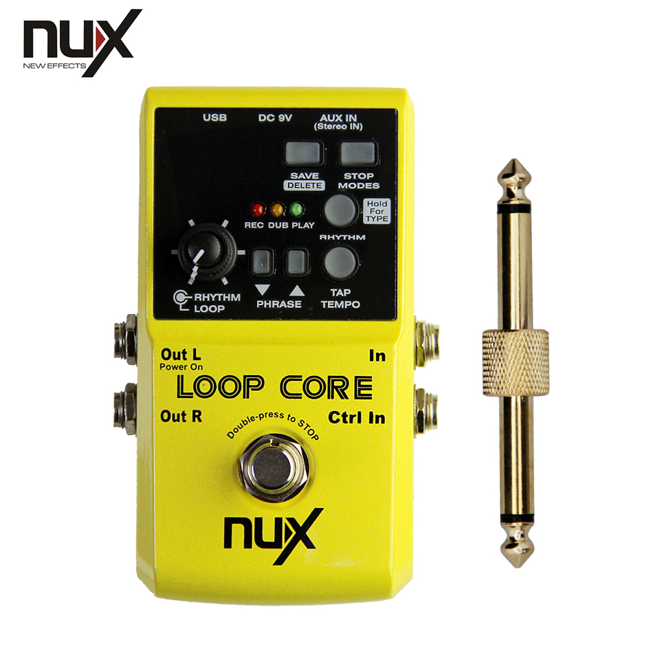 NUX Loop Core Up to 6 Hours Recording Time Loop Recording Pedal+1 pc pedal connector free shipping phrase loop core loop pedal block effect drum machine circular pedal