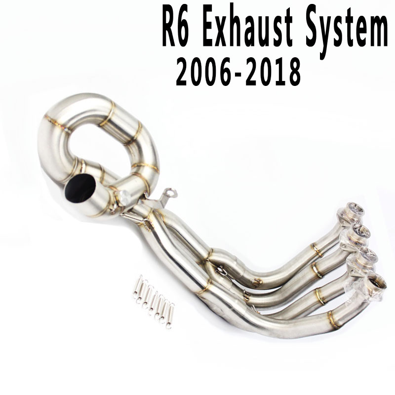 YZF R6 51MM Link Pipe Exhaust Muffler System For R6 2006 2009 2010 2011 2012 2013