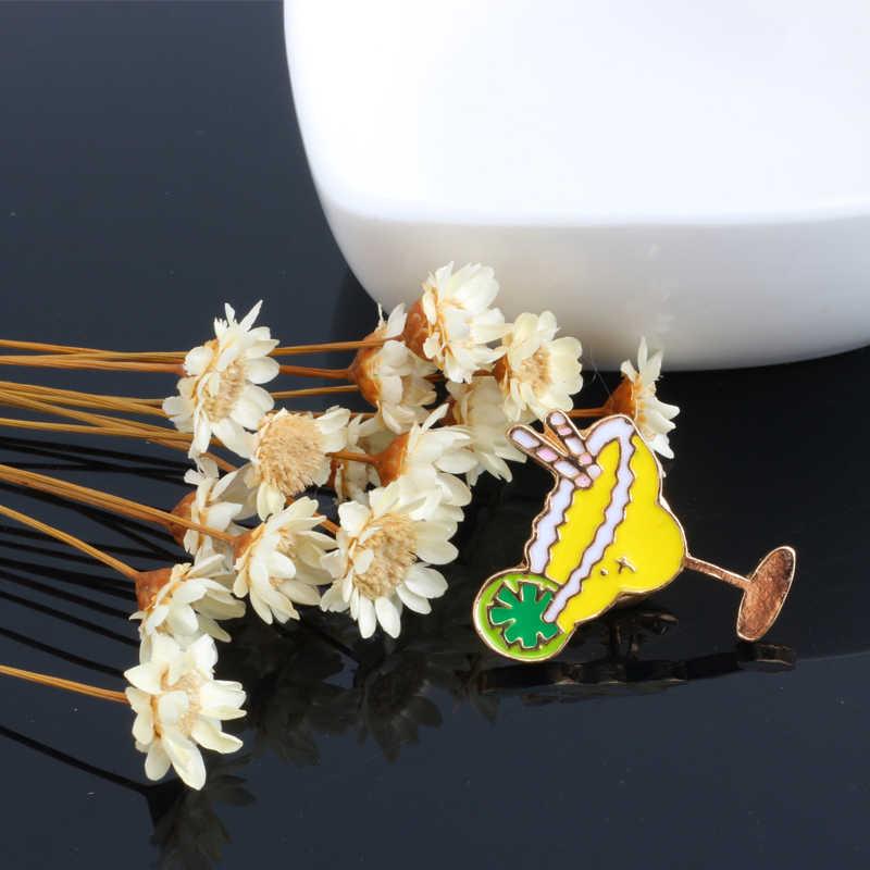 Estate il Gelato Succo di Spilla per Le Donne Dello Smalto Del Fumetto Spille Cappello Della Spiaggia Giubbotti jeans Risvolto Distintivi e Simboli Spilli Gioielli Camicette Decorazioni