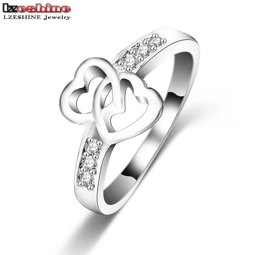 LZESHINE Eternity Love Promise Rings For Women Silver ...