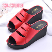 Womens slippers Summer bathroom slippery high-heeled beach sandals