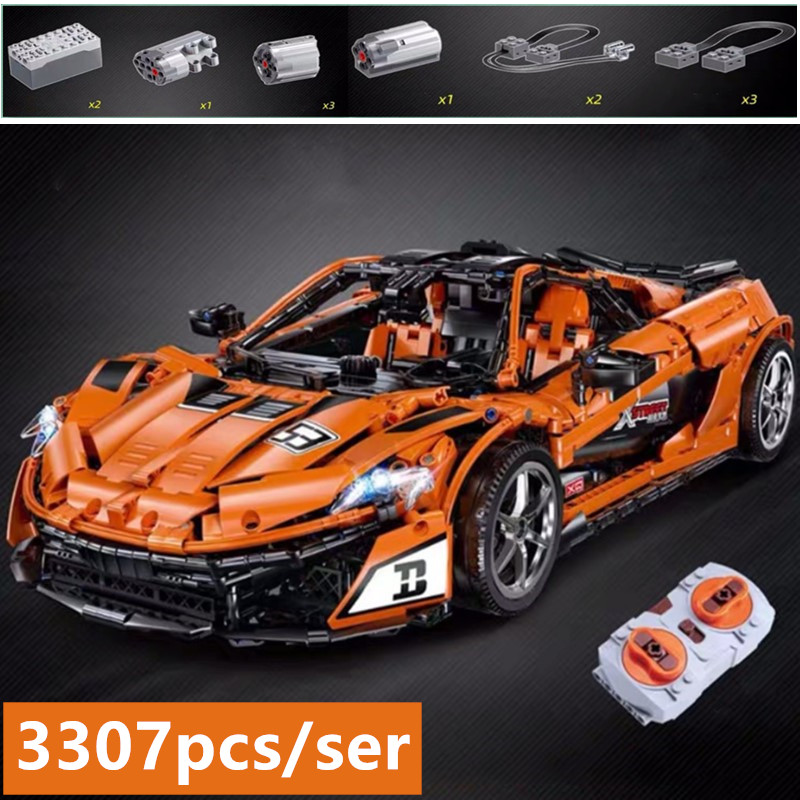 Nouveau Technic MOC-16915 Orange Super voiture de course fit technic ville blocs de construction briques jouet modèle RC cadeau d'anniversaire enfant