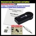 1 Трейлер 2 многоточечный Беспроводной 3.5 мм Bluetooth V3.0 Аудио Передатчик + Сплиттер, Стерео Dongle Адаптер, для iPod Smart TV DVD MP3