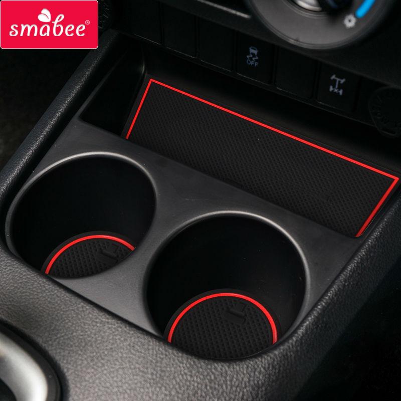 Gate Slot Mats For Toyota Hilux SR5 4x4 Hilux REVO Hi-Rider Manual  2015-2018 Non-slip  Interior Door Pad/Cup Non-slip Mats