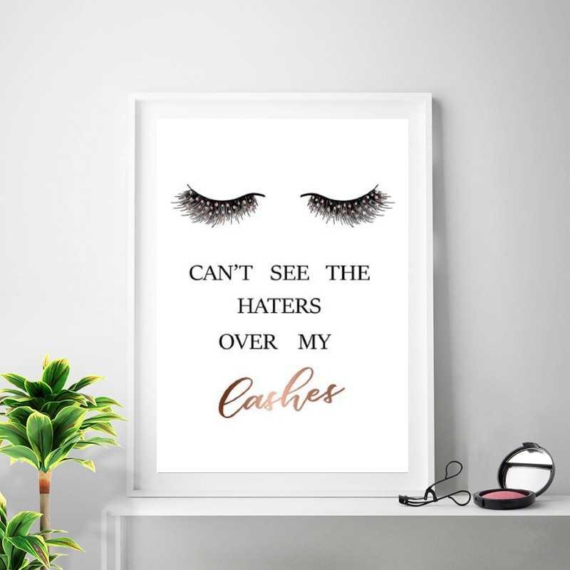 Bold Lashes Quote Eyelash Print Lashes Quote Print Bedroom Wall Decor