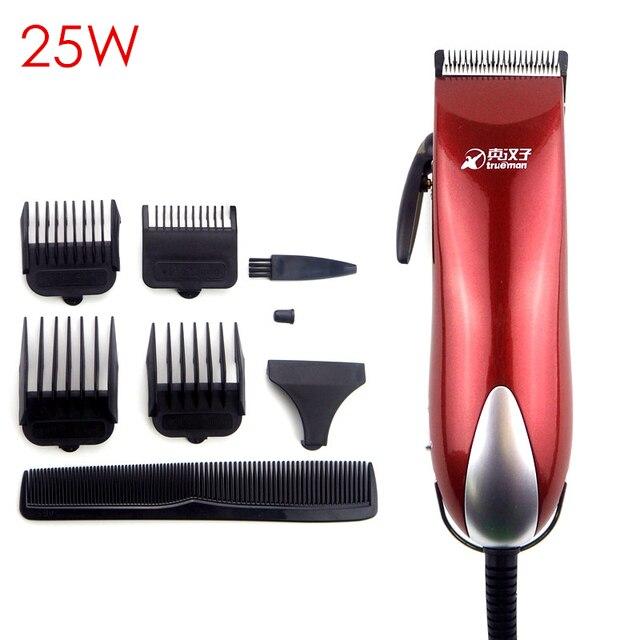 Профессиональная электрическая машинка для стрижки волос, высокомощный триммер из нержавеющей стали для мужчин, 25 Вт
