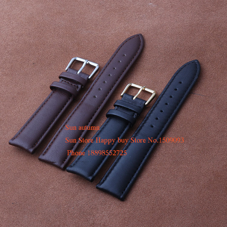 Black Soft Smooth Genuine Leather Steel Single pin buckle Clasp Watchband Strap Bracelets 12 14 16 18 19 20  22mm Black BrownBlack Soft Smooth Genuine Leather Steel Single pin buckle Clasp Watchband Strap Bracelets 12 14 16 18 19 20  22mm Black Brown