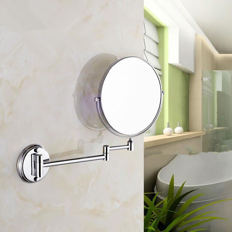 de acero inoxidable de pared espejo plegable espejo de doble cara espejo de maquillaje bao retrctil