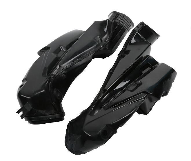 One Pair Black Ram Air Tubes Duct Intake For SUZUKI GSXR600 GSX-R 750 2006-2007 K7 new motorcycle ram air intake tube duct for suzuki gsxr600 gsxr750 2006 2007 k6 abs plastic black