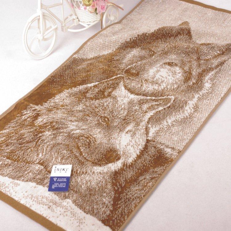 WOLF TOWEL SET IN BROWN