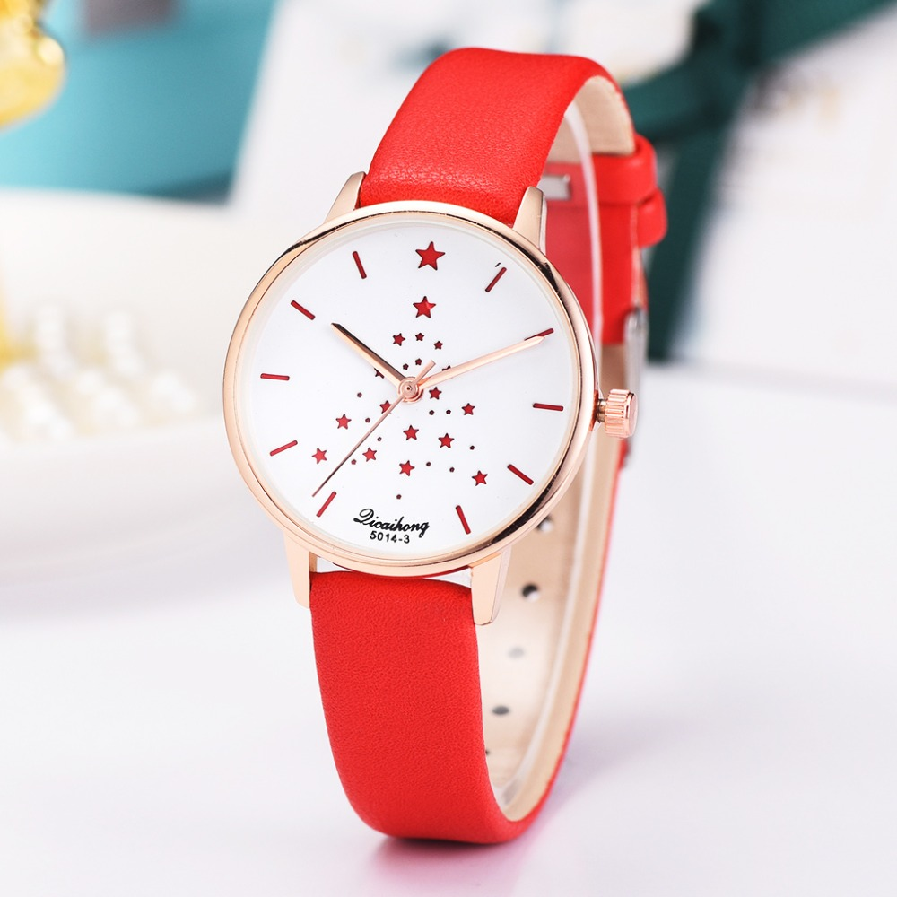 Watches Women Fashion Watch 2019 Girl Student Leather Casual Female  Stars Design Watches Luxury Brand Bracelet Quartz Watches