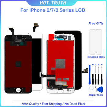 Top Quality For Apple iPhone 6 6S 7 8 LCD Display Touch Screen Digitizer Grade AAA LCD Replacement Lens Pantalla + Free Gift