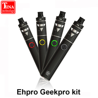 Ehpro geekproキットアトマイザー電子タバコスターターキット蒸気を吸うオールインワンキット対smokペン22キット1500 mahバッテリで2ミリリットル
