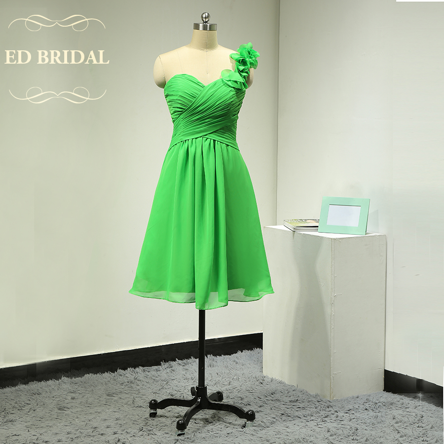Online get cheap apple bridesmaid dress aliexpress alibaba custom made ruffle one shoulder chiffon short apple green bridesmaid dresses women party dress special occasion gown ombrellifo Images