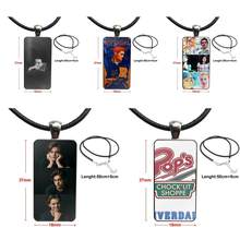 For Men Women American Tv Riverdale Series Cole Sprouse Classic Necklace Fashion Long Chain With Rectangle Necklace Jewelry(China)