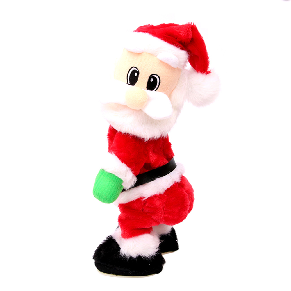 Electric Twerk Santa Claus Toy Xmas Music Singing Dancing Twisted Wiggle Hip Doll Christmas Home Decoration Kids Gifts B