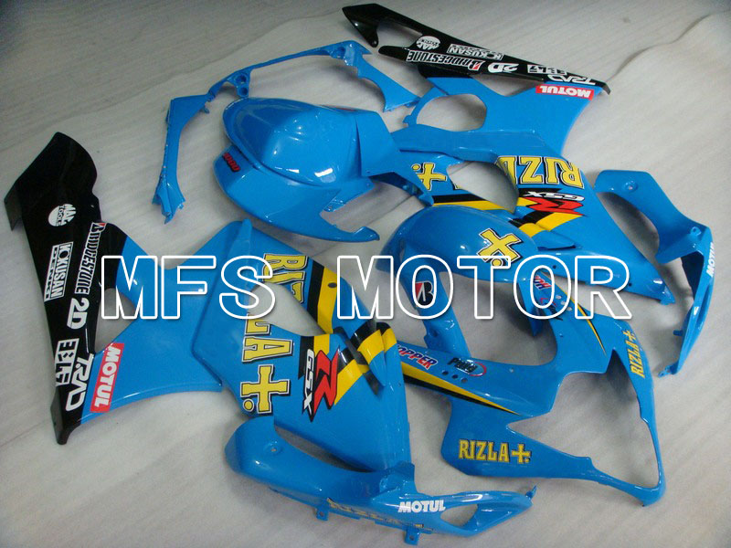 For Suzuki GSXR 1000 K5 2005 2006 Injection ABS Fairing Kits GSXR1000 K5 05 06 - Rizla+ - Blue/Black oem injection moulding moto fairing kit for suzuki k5 gsxr 1000 2005 2006 kits 05 06 all glossy black full fairings kits