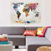 1pc vintage world map tapestry wall hanging tapestry bedspread living room dining room art wall decor tapestries