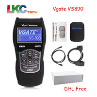 5pcs Lot DHL Free Vgate VS890 Good Quality OBD2 Code Reader Portable OBD2 Car Diagnostic Tool