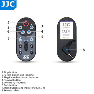Image 3 - JJC 1.5m / 4.6 Feet kablo kablolu uzaktan kumanda kontrolörü komutanı Zoom H6 Handy taşınabilir dijital değiştirir RCH 6