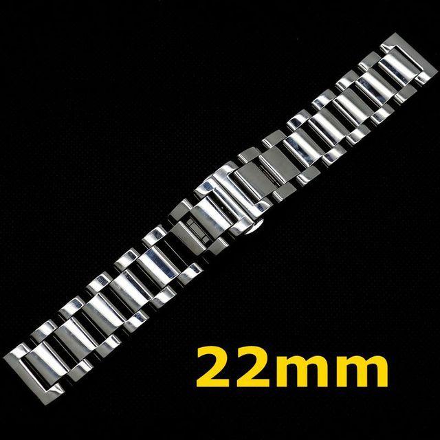 Смотреть Полоса 22 мм Часы Из Нержавеющей Стали Ремешок Мужчины Браслет для Часов GD014522