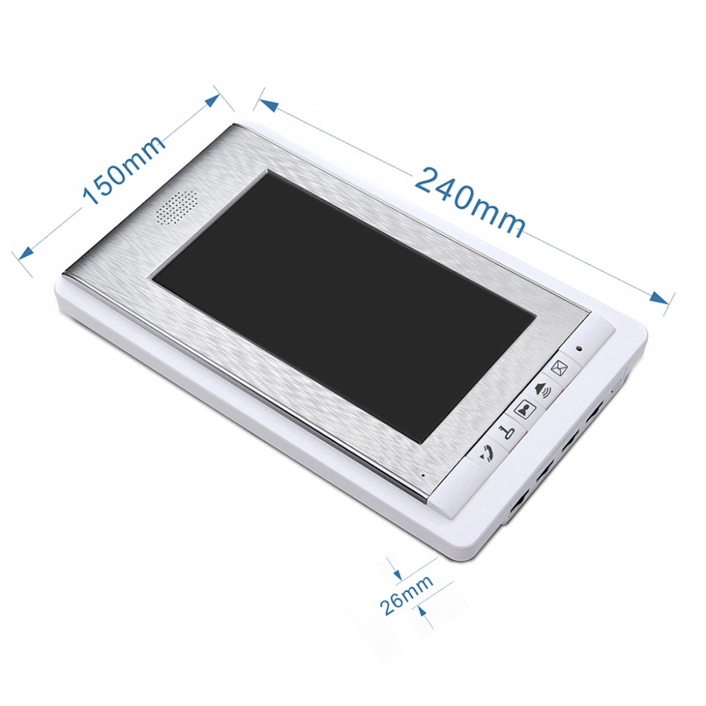 2/3/4 eenheden Appartement Video Deurtelefoon Intercom Systeem Video deurbel Kit voor 2 4 Appartementen huis 1 Camera 2 4 Monitor - 4