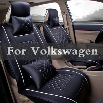 Pu Leather Universal Front Back Car Seat 1 Sets Covers  Cushion Pads For Volkswagen Beetle Bora Eos Fox Golf Gti Plus R